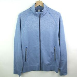 Lululemon Men's Engineered Warmth Jacket Size M Full Zip Up blue Sweater