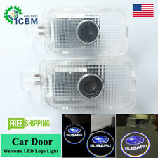 2x LED Laser Door Courtesy Welcome Shadow Projector Light For Subaru Forester XV