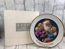 Avon Santa's Tender Moment Porcelain Christmas Plate 22K Gold Trim Collectible