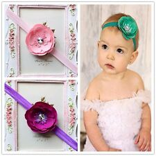 10 Pcs Cute Girl Infant Toddler Baby Flower Headband Hair Bow Band Accessories
