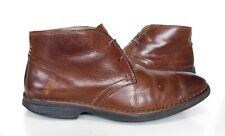 Mens CLARKS Active AIR Brown Leather Smart ankle BOOTS Size 9 Good Cond
