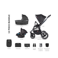 Venicci Tinum 3 in 1 Travel Baby Pushchair System (12 Pc Bundle) – Camo Black