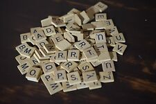 Lot of 99 Wood Scrabble Tiles - Crafts Art Jewelry Alpahbet Letters