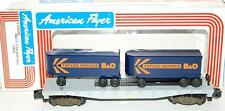 American Flyer 4-9000 B&O flatcar w/ 2 piggyback TOFCEE Vans Baltimore & Ohio