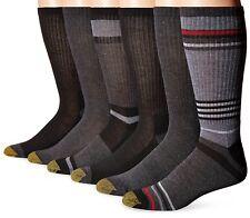 Gold Toe Men's Fashion Sport Crew Socks, Assorted Colors, 6 Pairs