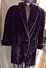 Donnybrook Vintage  Style Faux Fur Sheared Beaver Coat M Made in USA
