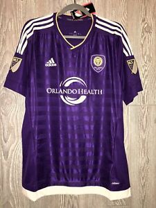 ADIDAS MLS Orlando City SC Authentic Purple Home S/S Soccer Jersey NEW Mens XL