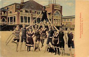 H78/ Atlantic City New Jersey Postcard c1910 Bathing Artists Pyramid Beach 130
