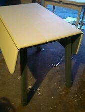 Vintage drop leaf rustic farm table primitive cream and blue