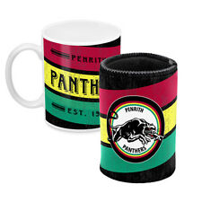 Penrith Panthers NRL Coffee Mug & Can Cooler Fathers Day Bar Man Cave Gift