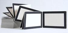 Leporellos 10x15 20 Blatt weiß/ Fenster schwarz