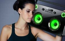 ION Spectraboom 60w Stereo Wireless Bluetooth Boombox LED Speaker Boom Box