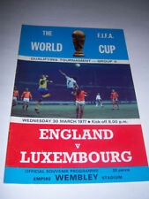 Away Teams L-N Luxembourg World Cup Football Programmes