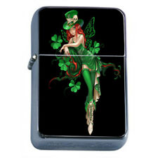 Irish Pin Up Girls D6 Flip Top Dual Torch Lighter Wind Resistant