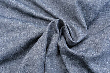 D273 SUPER FINE DARK INDIGO DENIM BLUE DOUBLE COTTON BLEND JERSEY MADE IN ITALY