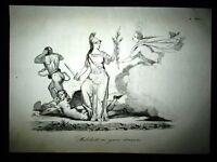Incisione d'allegoria e satira Italia, Pace e Libertà Don Pirlone 1851