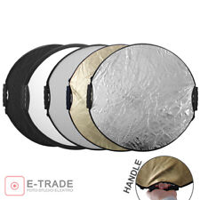 80cm Collapsible Light Reflector  // with handles // 5in1 Multi disc for studio