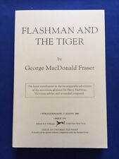 FLASHMAN AND THE TIGER - 1ST AM ED UNCORRECTED PROOF BY GEORGE MACDONALD FRASER