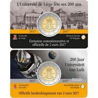 Coincard 2 euros commémorative BELGIQUE 2017 - 200 ans de l'université de Liège