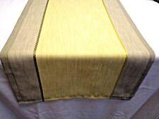 Tischläufer Tischdecke Tischs 44x140cm Lindgrün Olivgrün Leinencharakter modern