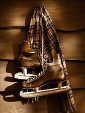 OLD ICE HOCKEY SKATES SPORT SEPIA PHOTO ART PRINT POSTER PICTURE BMP159B