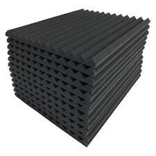 12 Pcs Black Acoustic Panels Soundproofing Foam Acoustic Tiles Studio Foam S W2E