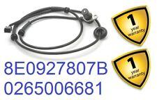 Audi A4 Avant 01-04 1.8T 1.9 2.4 2.5 TDi 3.0 S4 Qtt Rear R ABS Sensor 8E0927807B