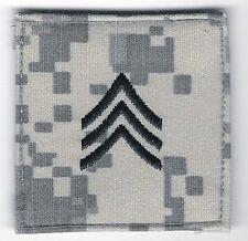 """2"""" x 2"""" ACU US Army E-5 E5 SGT Sergeant Rank Insignia Hook Fastener Patch"""