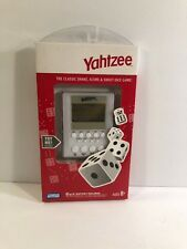 Yahtzee Handheld Electronic Dice Game Parker Brothers 2007 White Slim Brand New
