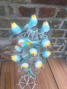 24 Artificial Kitsch Birds Easter Decorations -5