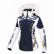 Neu Bogner Damen Super Ski Jacke Blau  PAULA-T + KAPUZE FELL Gr. M / 38