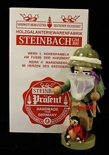 "Steinbach German Wooden Nutcracker Chubby ""Entomologe"" S 1355 New"