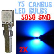 2 Paire Ampoule LED T5 5050 Coleur Tableau de Bord Lampe Habitacle 12V Bleu 4B1