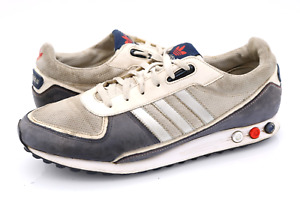 Adidas Mens 12 Gray White LA Trainer 2 Lace Up Athletic Running Sneaker Shoes