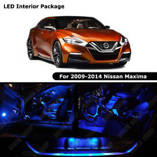 17PCS Blue LED Bulbs Interior Package Kit for 2009 - 2014 Nissan Maxima