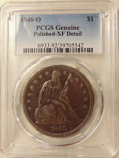 1846-O Liberty Seated Silver Dollar - PCGS XF details - Sharp Looking XF+ Coin