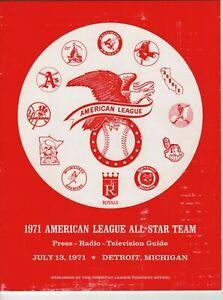 1971 American League All-Star Game Media Guide, Reggie Jackson, Tiger Stadium