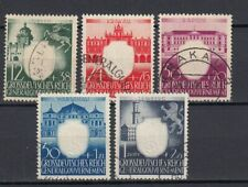 DR, Generalgouvernement, besetzung, 1943, Mi.105-109, used
