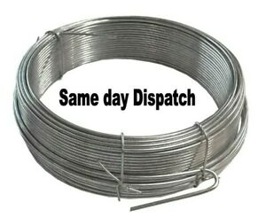 Galvanised wire. Heavy duty. Metal. Fencing wire. Outdoor.. Various lengths..