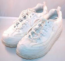 Skechers Shape Ups Metabolize Shoes 10 Fitness Exercise White Walking Womens