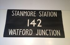 """Routemaster Linen Bus Blind 1083 36""""- Stanmore Station 142 Watford Junction"""