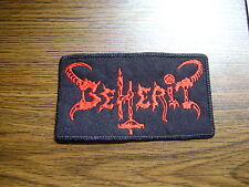 BEHERIT,SEW ON RED EMBROIDERED PATCH