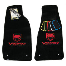 2003-2006 Dodge Viper SRT-10 Floor Mats Black Dual Red Embroidery 32OZ QUALITY