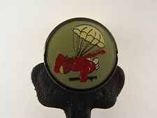 US Military Parachute With Red Devil LAPEL / HAT PIN BRAND NEW