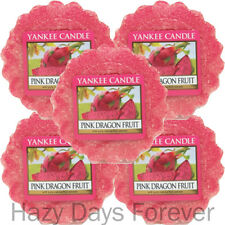 5 YANKEE CANDLE WAX TARTS MELTS Pink Dragon fruit SCENTED Tropical fruit