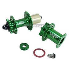 Circus Monkey Disc CNC Lefty Hub For Cannondale , 24 Hole,1 Pair, Green