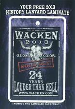 Wacken - Pass 2013 - 24 Years Louder Than Hell - wie Bild