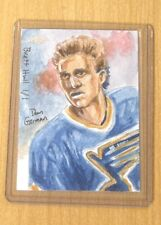 2012 Leaf Best/Hockey sketch card Dan Gorman artist Brett Hull 1/1