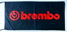 BREMBO FLAG BLACK - SIZE 150x75cm (5x2.5 ft) - BRAND NEW