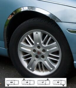 ROVER 75 wheel arch fender trims cover chrome kit 4 pcs front rear wings '98-05